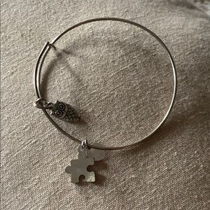 Alex and Ani Replica- puzzle piece and owl